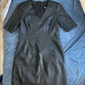 W by Worth faux leather dress